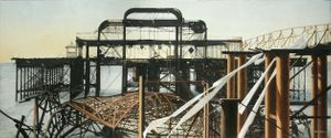 Wrecked West Pier