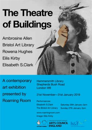 Performances by Elisabeth S Clark on Sat 26th Jan, 2pm  & The Bristol Art Library on Sun 27th, 2pm