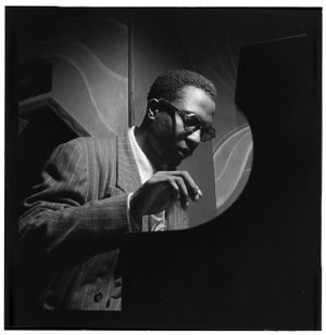 Thelonious Monk at Minton's Playhouse New York, 1947 by William Gottlieb, Courtesy Library of Congress.