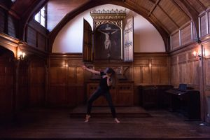 Lucinda May dancing in Oxford House's chapel
