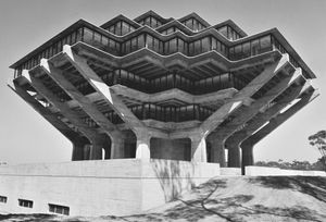 Geisel Library by William Pereira & Associates. Courtesy University of California, San Diego. From This Brutal World, Phaidon