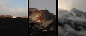 Above images L-R: Ronny Sen, Jharia - The End 2(B); Jharia - The End 57; and Jharia - The End 3. 2014. All images courtesy of TARQ and the artist.