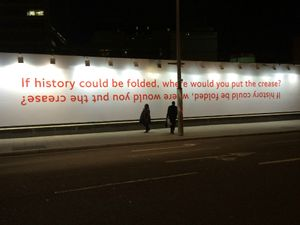 'If history could be folded, where would you put the crease?', Richard Wentworth 2014