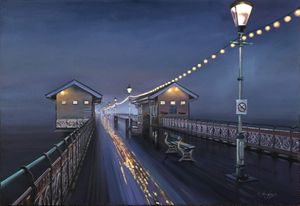 Penarth Pier at Night - Malcolm Murphy