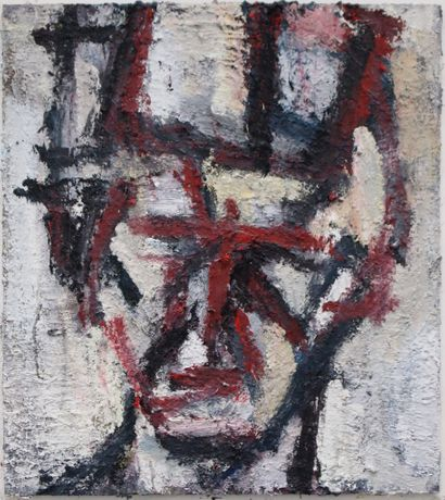 Thomas Robinson, Head, Oil on board, 66x59cm.