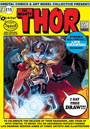 THOR: Dynamic life drawing with Art Model Collective and Orbital Comics