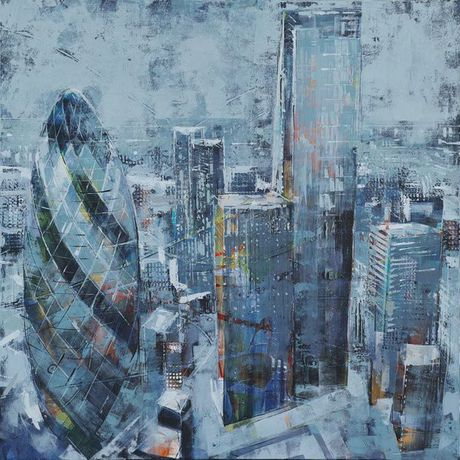 Richard Knight - The Hub of It 100x100cm