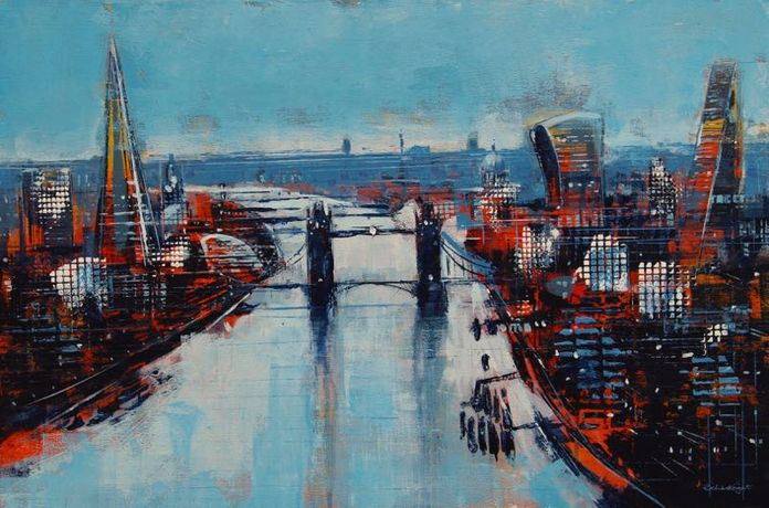 Richard Knight - Tower Bridge at Dusk 61x91cm