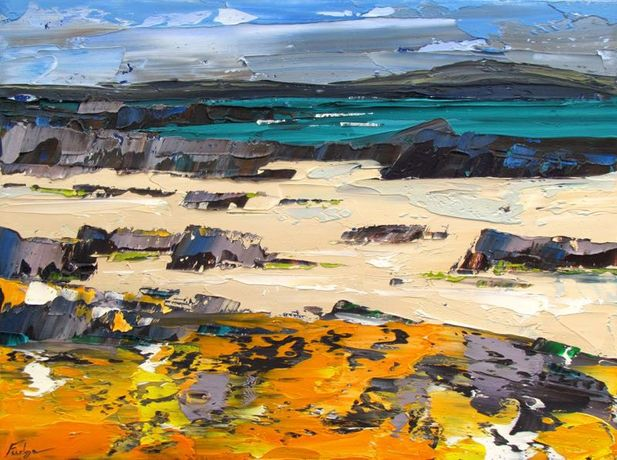 Tim Fudge - Lichen Shore, Donegal 30x40cm