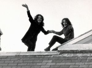 Prisoners on the roof, October 26 1971. Photograph from the Cinenova archive.