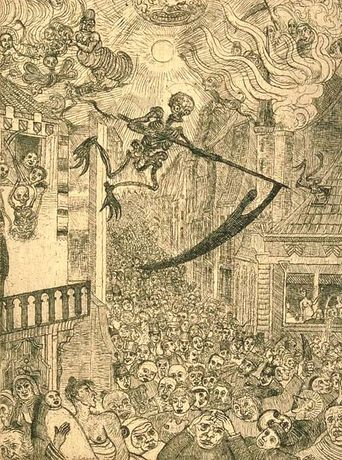 Timothy  Hyman:  JAMES ENSOR, ETCHING THE CARNIVAL: Image 0