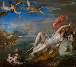 Titian, 'Rape of Europa' (detail), 1562 © Isabella Stewart Gardner Museum, Boston