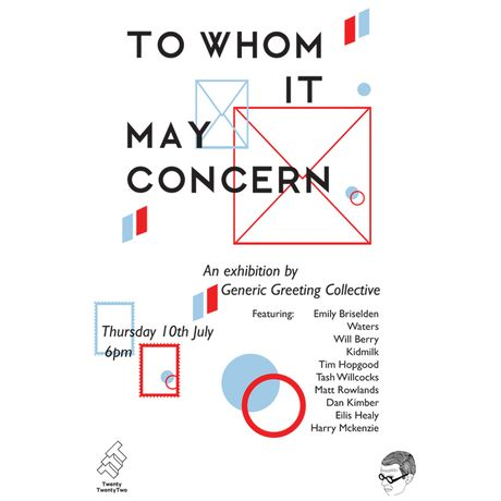 TO WHOM IT MAY CONCERN Exhibition Launch: Image 0