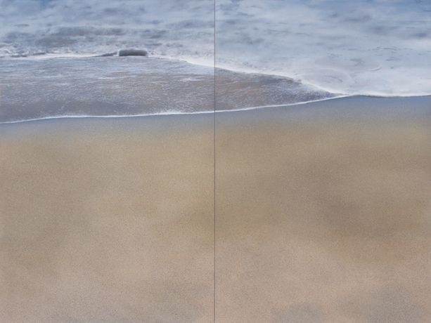 Virgin Sands (Diptych), Oil on Canvas, 60 x 80 (overall)