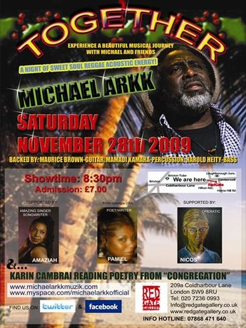 Together by Michael ArkkAn Evening of Roots Reggae, Soul, Po: Image 0