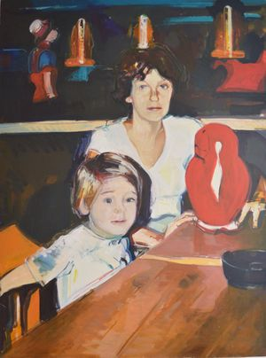 Mother and Child - oil on linen 190 x 140 cm
