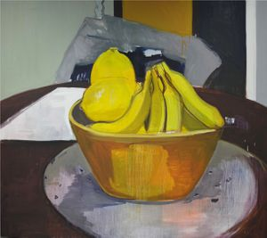 Lemons and Bananas - oil on canvas 150 x 170 cm