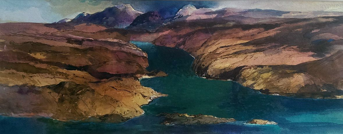 Tom H. Shanks RSW RGI PAI 'Scottish Sea Loch' watercolour