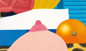Tom Wesselmann Bedroom Painting #4, 1968 Oil on canvas 36 × 60 inches (91.4 × 152.4 cm) © The Estate of Tom Wesselmann/Licensed by VAGA, New York
