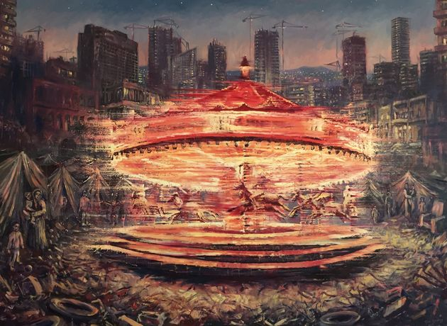 Carousel (oil on canvas - 110cms x 150cms)