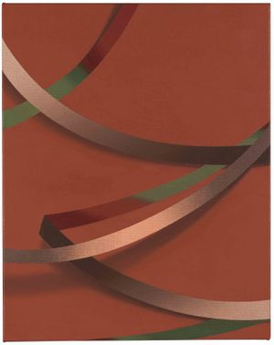 "Tomma Abts, Weie, 2017 Acrylic & oil on canvas 48 × 38 cm, 18 7/8"" × 15"" Courtesy Collection of Danny and Lisa Goldberg"