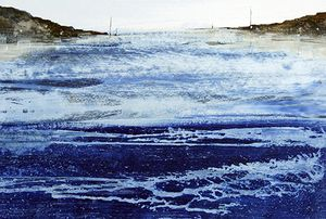 Tide Rush, Acrylic on Paper by Tony Foster