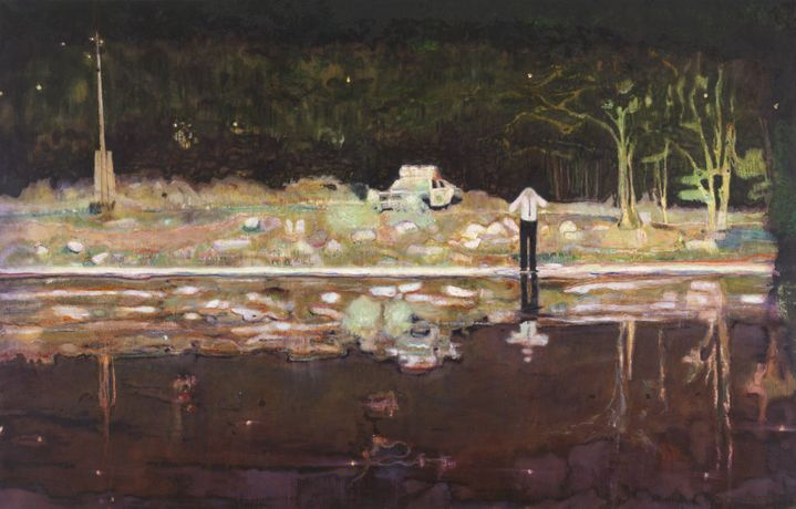 Echo Lake, 1998, Peter Doig (1959-), Tate: Presented by the Trustees in honour of Sir Dennis and Lady Stevenson (after Lord and Lady Stevenson of Coddenham), © Peter Doig. All Rights Reserved, DACS