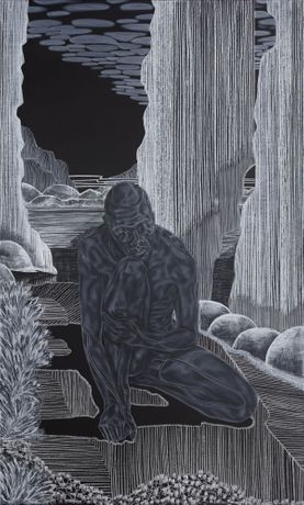 Toyin Ojih Odutola, 'Introductions: Early Embodiment' from 'A Countervailing Theory', 2019.