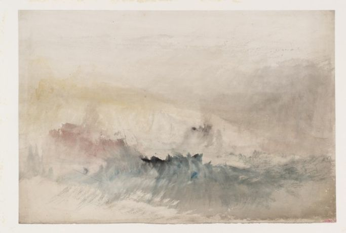 JMW Turner, Caption from Studies for Published 'England and Wales' Subjects, The Kent Coast from Folkestone Harbour to Dover, c.1829 © Tate, London 2017