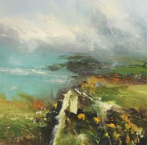 Coastal path (100cm x 100cm) Mixed media £1,895.00
