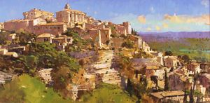 'Village Perche, Gordes, Provence' by David Sawyer RBA