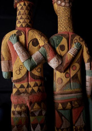 Igbo display couple, 1m63cm, mid C20th
