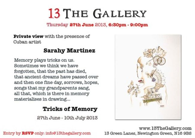 Tricks of Memory - Exhibition by visiting Cuban artist Sarahy Martinez: Image 0