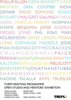 Turps Painting Programme Open Studio and Mentors' Exhibition