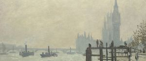 Detail from Claude Monet, The Thames below Westminster, about 1871