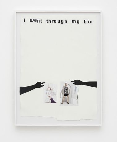 Frances Stark I went through my bin 2008. Collage on paper. 38 x 29 in. (96.5 x 73.7 cm). Courtesy of the artist and Galerie Buchholz, Berlin/Cologne.