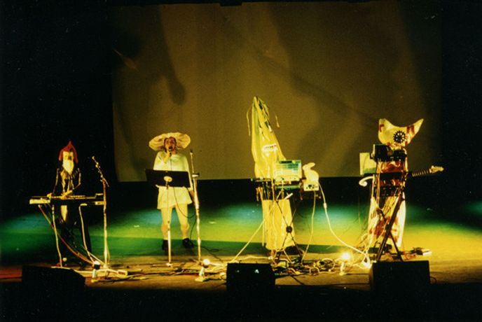 AG Geige at 3rd International Art Rock Festival, convention hall in Frankfurt am Main, 1 March 1991