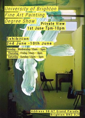 University Of Brighton Gallery Graduate Show!