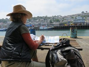 Karen Stamper, sketching in Newlyn