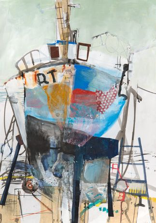 Winter refit, paper collage and acrylic