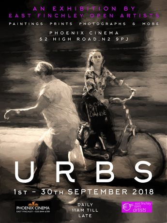URBS exhibition flyer by Mike Cole