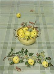 Quinces in Brass Bowl