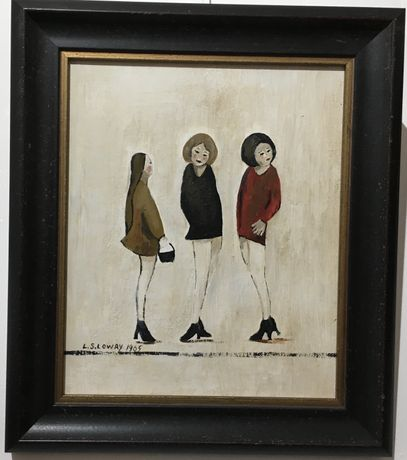 'Teenagers' by original John Anderson knowing replica of LS Lowry