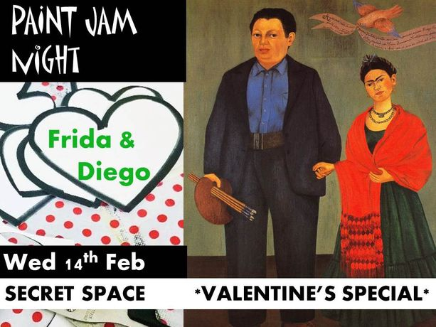*Valentine's special* PAINT JAM NIGHT: FRIDA & DIEGO: Image 0