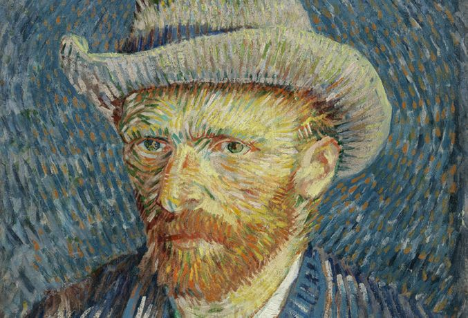 Vincent Van Gogh, Self-Portrait With Grey Felt Hat, 1887 Paris ® Van Gogh Museum, Amsterdam