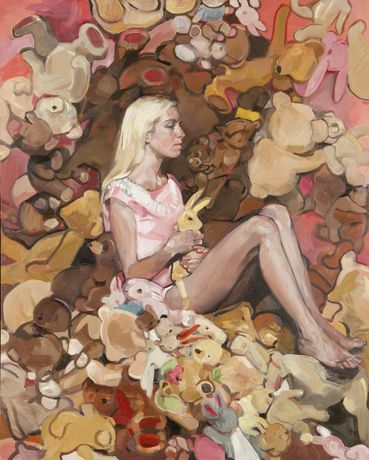 Vanessa Garwood, Good Little Girls, 2015, Oil on canvas, 152 x 122cm