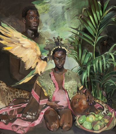 Vanessa Garwood, Ananse The Trickster Spider, 2015, Oil on wooden panel, 130 x 115cm