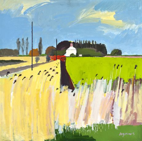 Middle Drove, Middle Drain, March 2014  Acrylic on panel. 91x91cms Ditch next to Anchor Drove, Norfolk Fens  Acrylic on board, Nov 2014 61 x 61cms Looking back to Ely on a winter's evening. Pymoor, The Black Fens. (2nd version)  Acrylic on board. 123 x 123 cms. Jan 2015 Ditch next to Sedge Fen Road - winter sunlight, rain coming.  Acrylic on panel, Nov 2014 123 x123cms Ditch next to Sedge Fen Road II – winter sunshine rain coming, Nov 2014.  Acyrlic on board. 123 x 123cms Crossing Ditches, West Row Fen. Sept 2014  Acrylic on board. 61 x 61cms Available to buy at Lynne Strover Gallery Nissan Hut, Prickwillow  Acrylic on board. 61 x61cms Available to buy at Lynne Strover Gallery      Townsend Farm, Neeps Bridge, Middle Drain, The Fens, March 2014  Acrylic on panel 61x61cms   Ditch leading to pump house on the River Lark, Fodder Fen Drove, Aug 2014.  Acrylic on board 122 x 122 cms Bourne Farm, Methwold Fen on a grey day in the Black fens  Acylic on board, Nov 2014 123 x123cms WWII Pill Box, Lark's Bank, The Fens. 2012  Acrylic on panel. 91cm x 91cm Tramlines in a wheat field on Methwold Fen II  Acrylic on board. 123 x 123 cms Fog rolling in from The Wash, Sluice Road, Sutton Bridge, Lincolnshire.  Acrylic on board. 30.5 x 31 cms  Available to buy at Lynne Strover Gallery Fog rolling in from The Wash, Sluice Road, Sutton Bridge, Lincolnshire.  Acrylic on board. 31 x 28.5 cms  Available to buy at Lynne Strover Gallery Farm track in Suffolk on a grey September morning  Acrylic on panel 61 x 61cms Ditch leading to Boon's Farm, Welches Dam  Acrylic on board 61 x 61cms Ditch leading to Boon's Farm, Welches Dam  Acrylic on board 91 x 91cms Fog rolling in from The Wash, Sluice Road, Lincolnshire  Acrylic on board. 6' x 3'. Oct 2014 Fen Headland - winter morning in the Black fens  Acrylic on board, Dec 2014 61 x61cms Marshland at Aldeburgh, Suffolk, Oct 2014  Acrylic on board 61 x 61cms