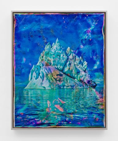 Vatnajökull, CMY10, 2018-2020, heated chromogenic print, with acrylic varnish and Aqua-Resin support 41 1/2 x 33 3/8 inches