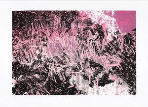 Kama Jackowska: Screem, WW series, 2014, hand printed screen-printing